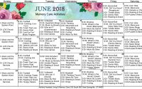 June 2018 Memory Care Activities