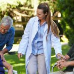 Memory Care worker and seniors