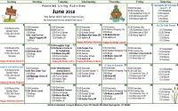 June 2018 Assisted Living Activities Calendar